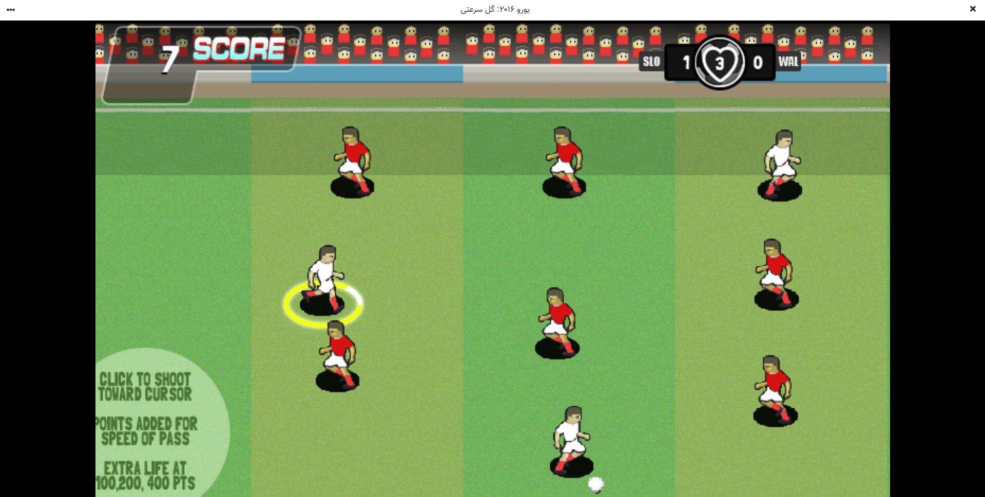 راهنمای بازی آنلاین یورو ۲۰۱۶: گل سرعتی